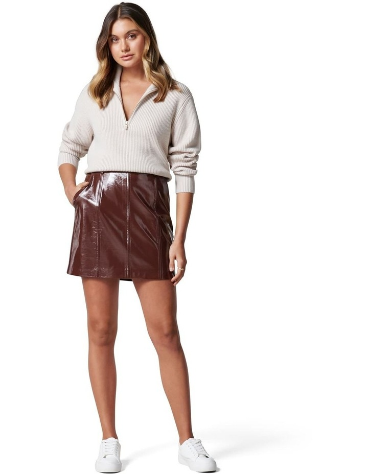 Frankie High Shine PU Mini Skirt image 5