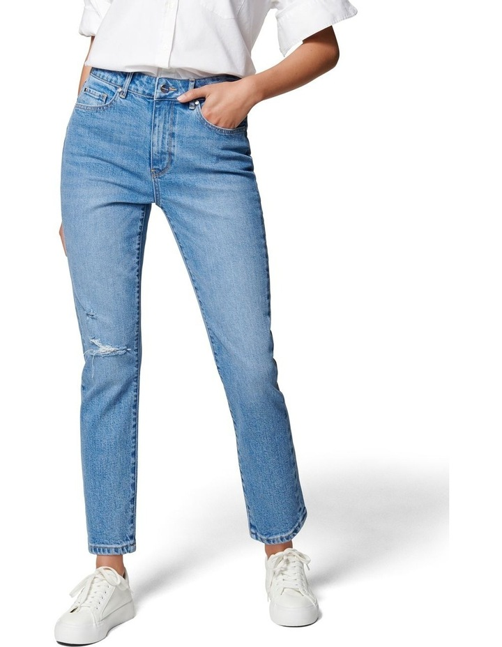 Isabel Mid Rise Straight Crop Jean image 1