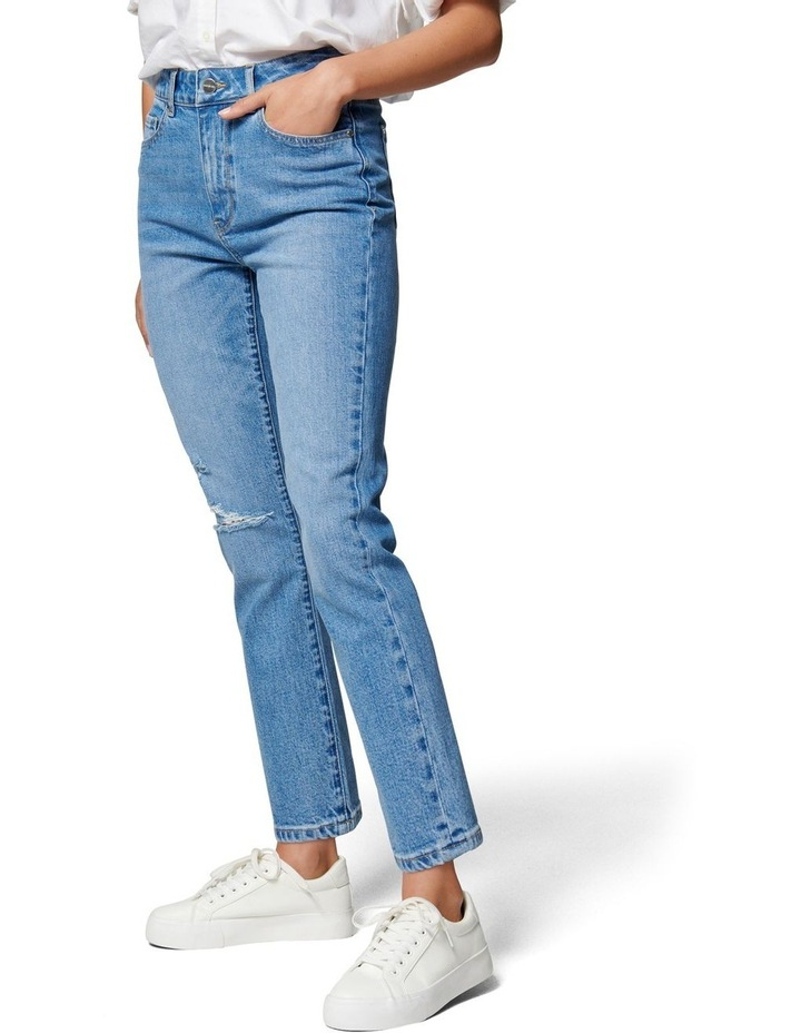 Isabel Mid Rise Straight Crop Jean image 3