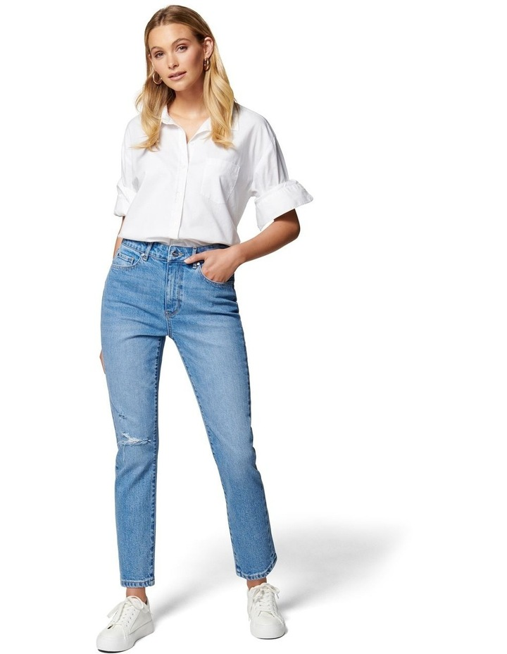 Isabel Mid Rise Straight Crop Jean image 5