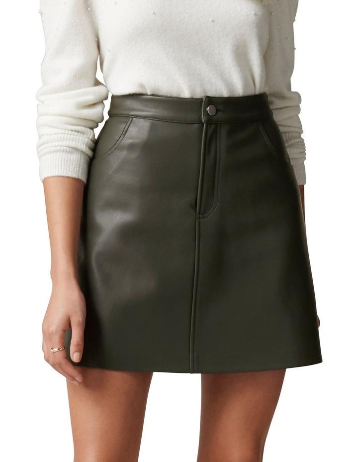 Kim Vegan Leather Mini Skirt image 1