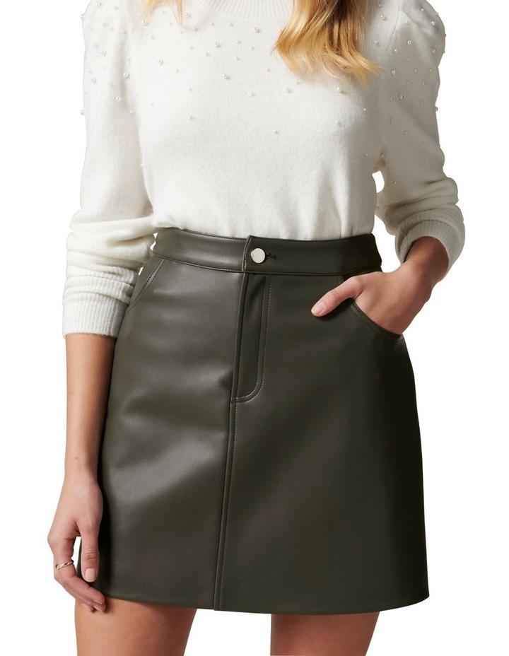 Kim Vegan Leather Mini Skirt image 2