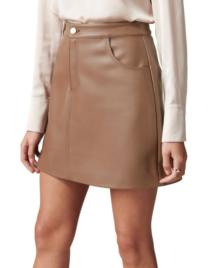 Kim Vegan Leather Mini Skirt image 3
