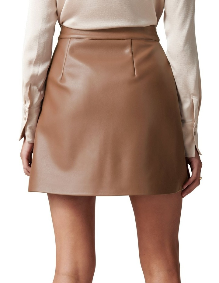 Kim Vegan Leather Mini Skirt image 4