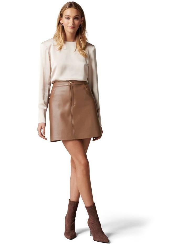 Kim Vegan Leather Mini Skirt image 5