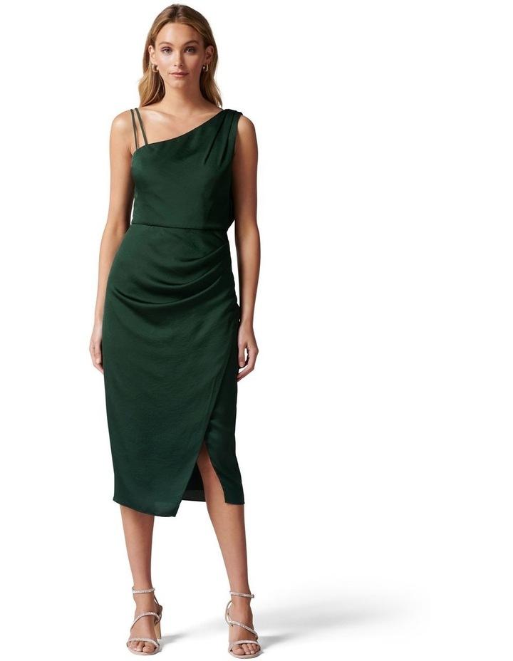 Nikki Strappy Drape Back Midi Dress image 1