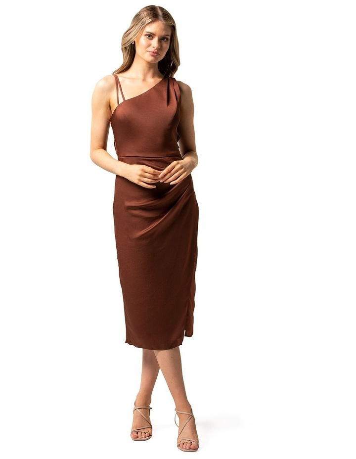 Nikki Strappy Drape Back Midi Dress image 1