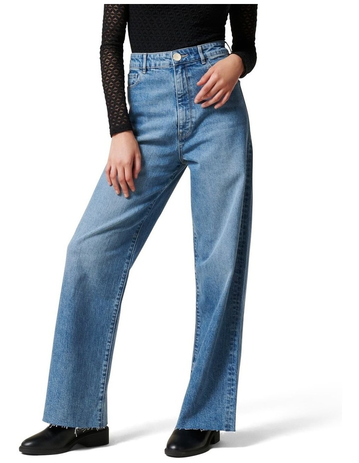 Gia High Rise Wide Leg Jean image 1