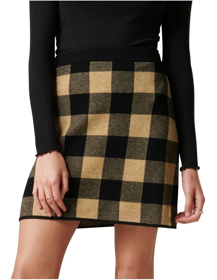 Cady Jacquard Check Knit Skirt image 1