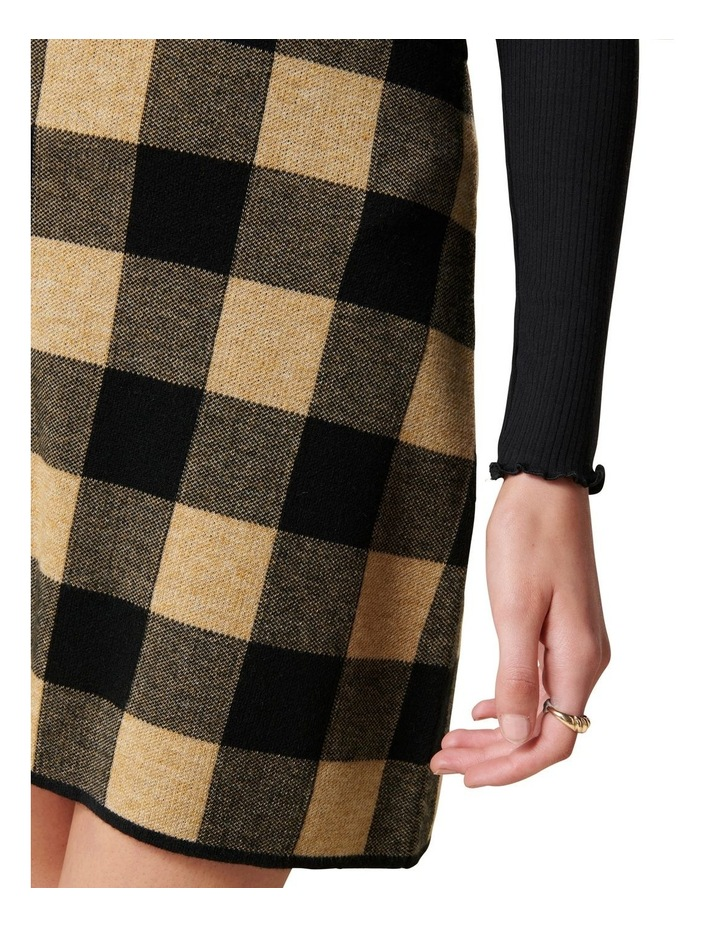Cady Jacquard Check Knit Skirt image 2