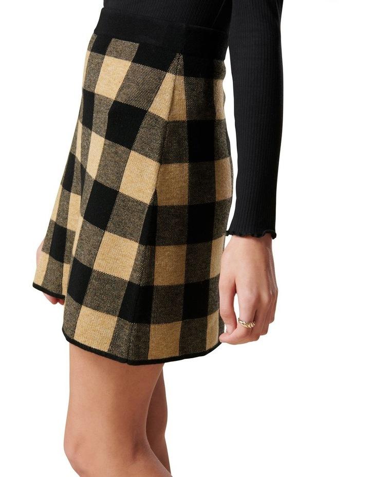 Cady Jacquard Check Knit Skirt image 3