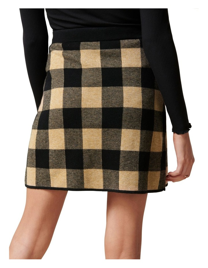 Cady Jacquard Check Knit Skirt image 4