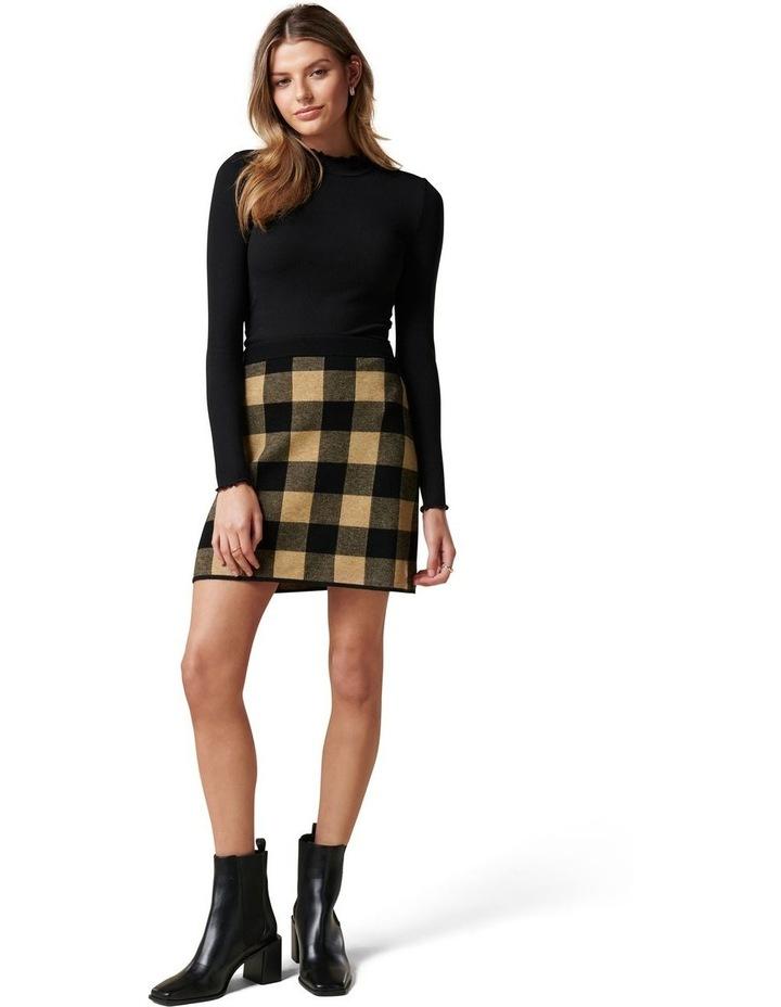 Cady Jacquard Check Knit Skirt image 5