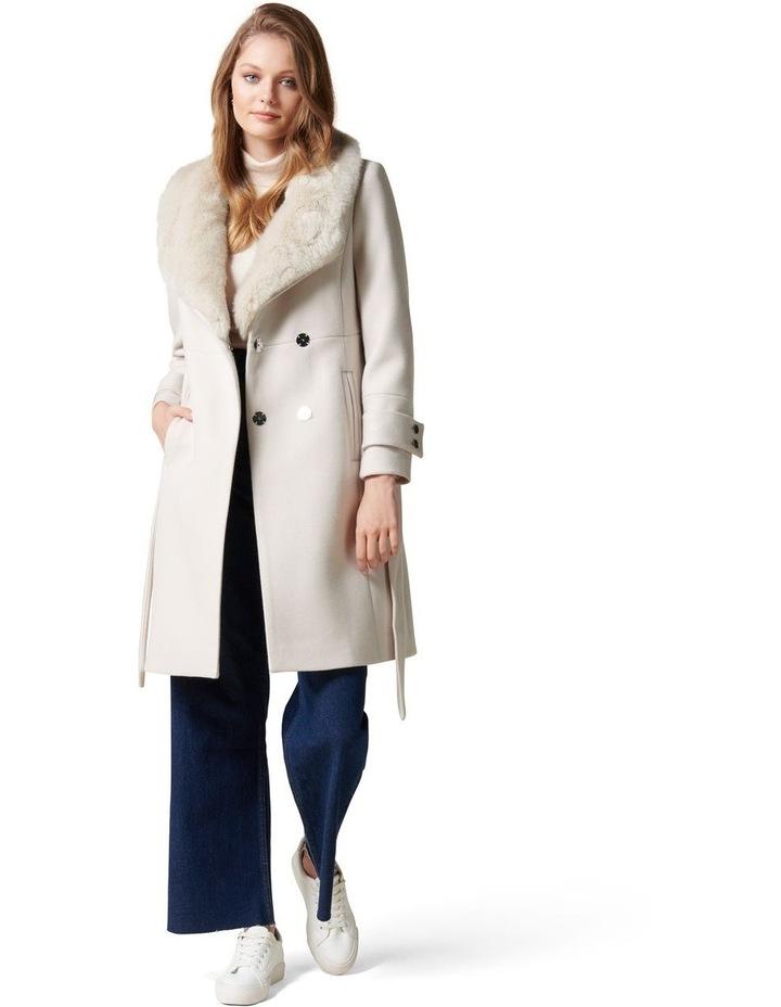 Jamie Fur Collar Coat Petites image 1
