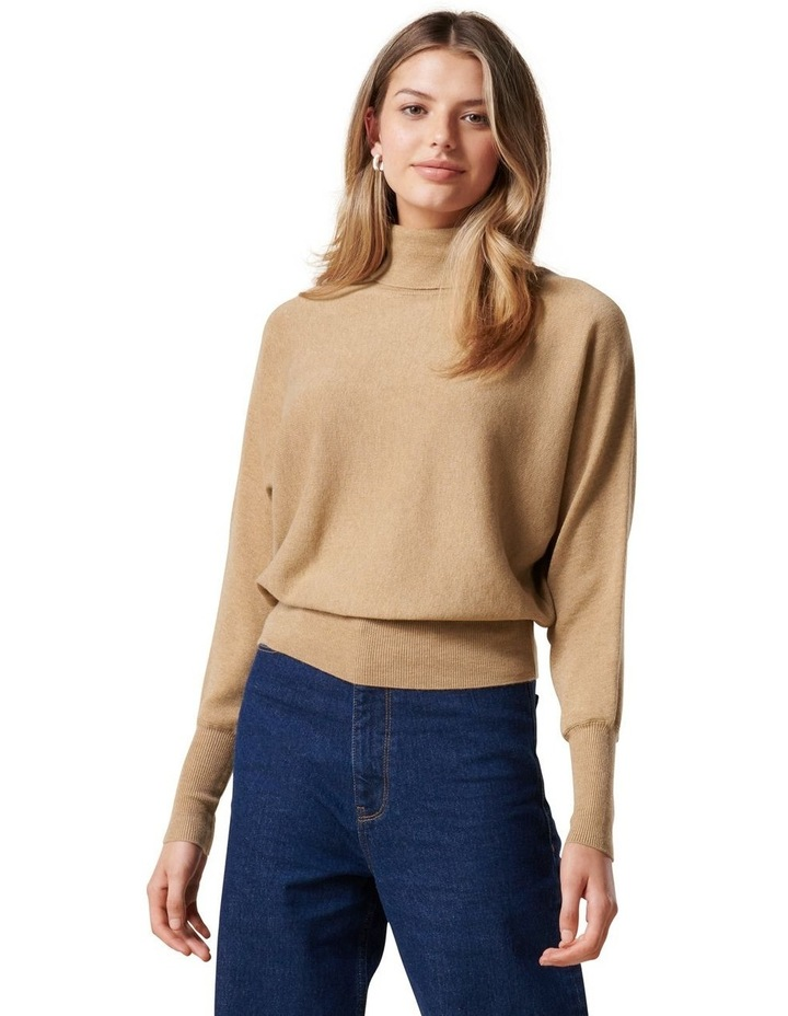 Layla Roll Neck Batwing Knit Jumper image 1