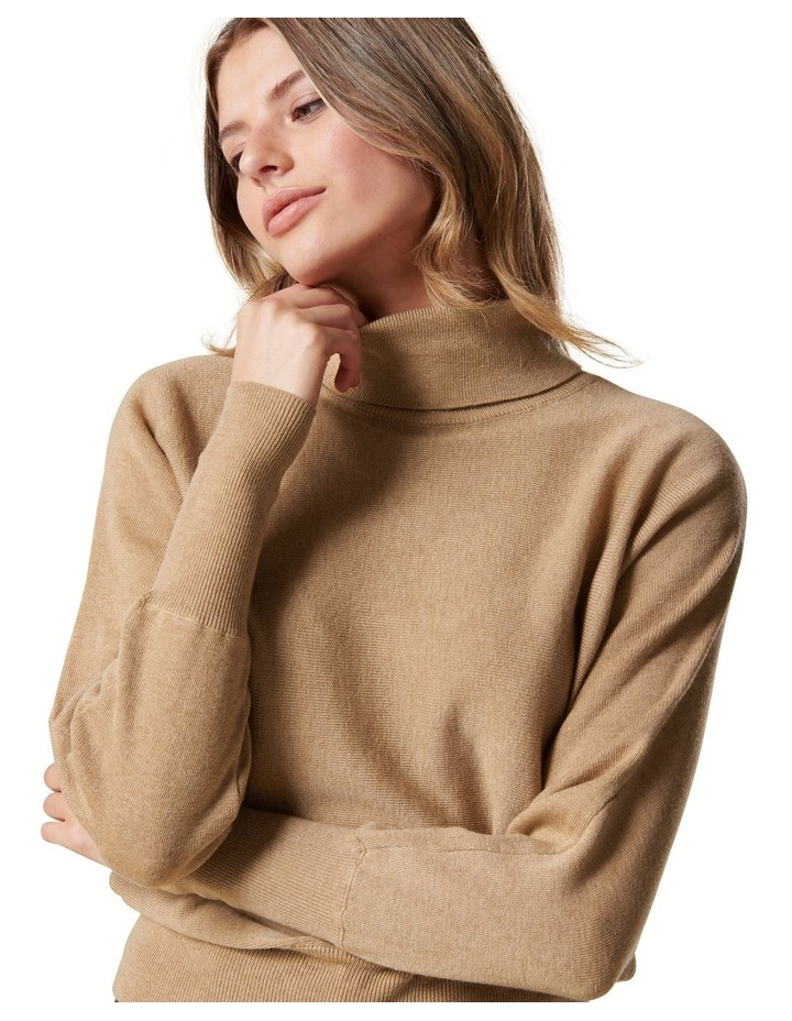 Layla Roll Neck Batwing Knit Jumper image 2