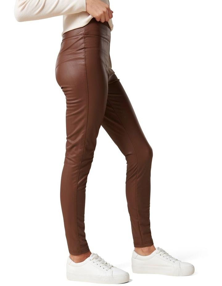 Priscilla Vegan Leather Leggings image 3
