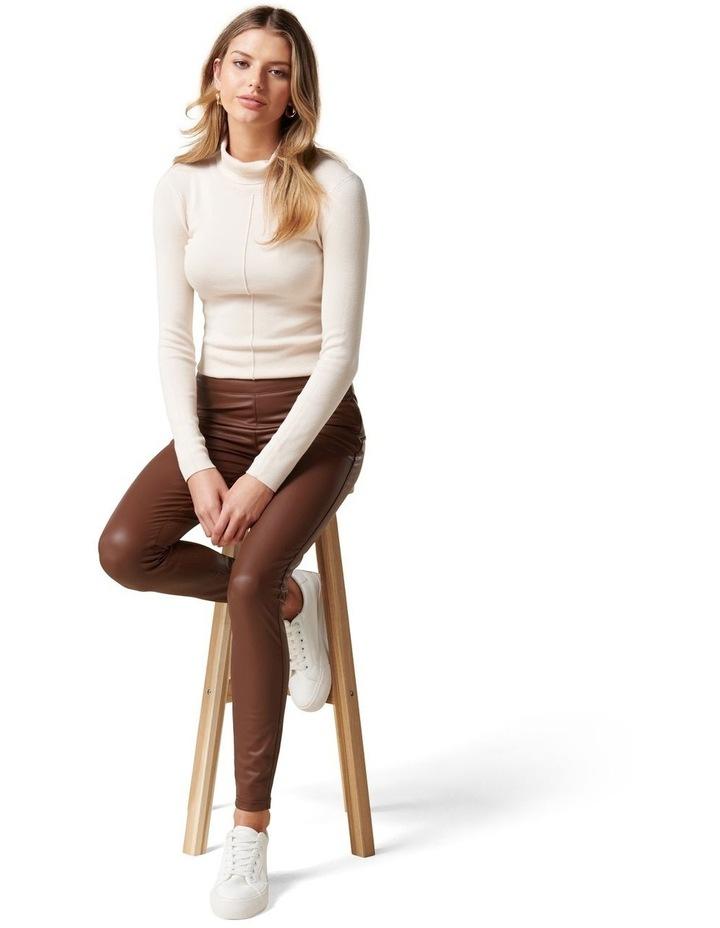 Priscilla Vegan Leather Leggings image 5