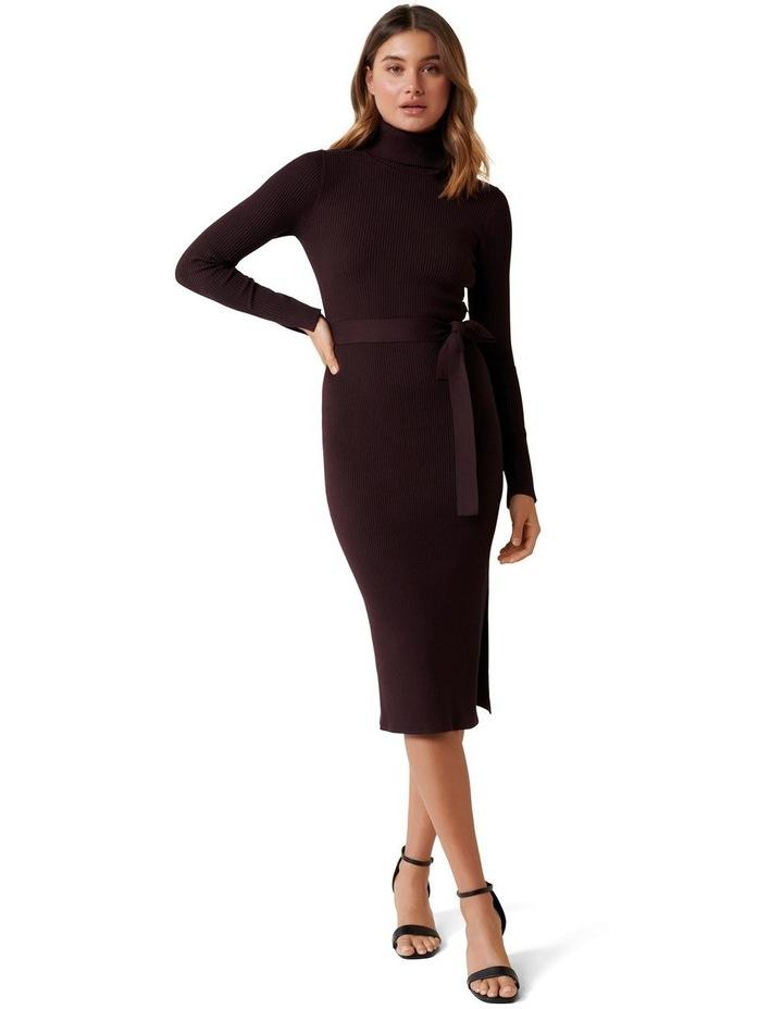Gianna Rib Column Midi Knit Dress image 1