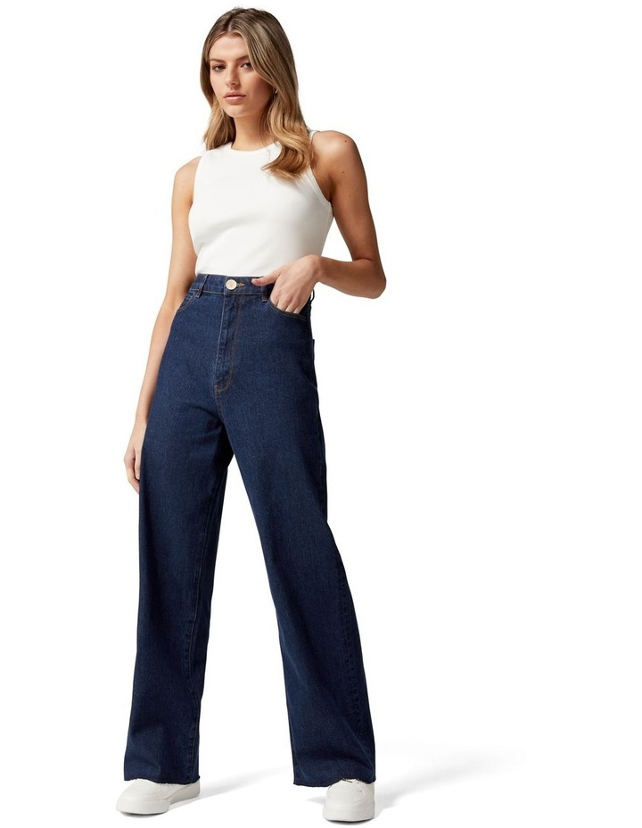 Gia Petite High Rise Wide Leg Jean image 5