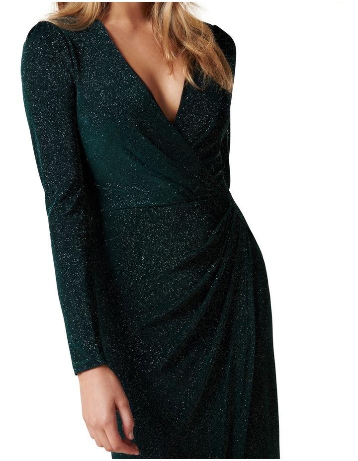Evaliah Glitter Wrap Midi Dress image 2