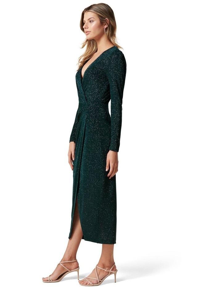 Evaliah Glitter Wrap Midi Dress image 3