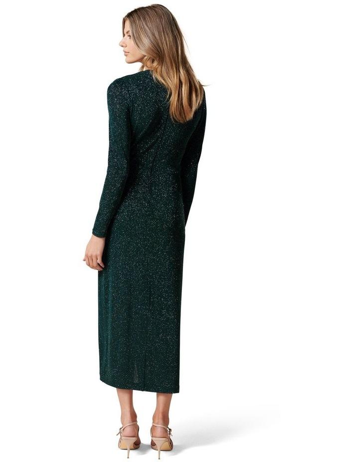 Evaliah Glitter Wrap Midi Dress image 4