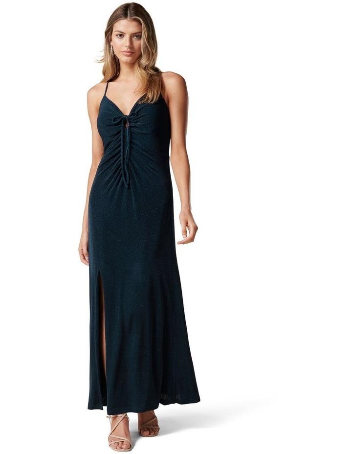 Keryn Ruched Glitter Midi Dress image 1