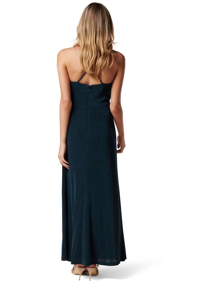 Keryn Ruched Glitter Midi Dress image 4