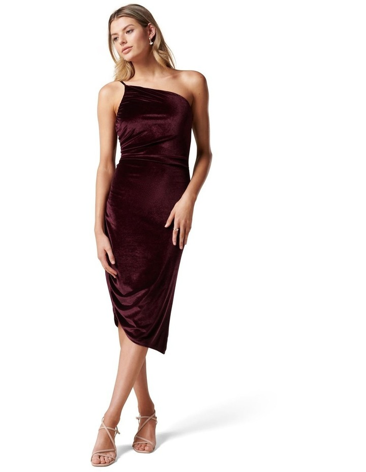 Luann Strappy Velvet Midi Dress image 1