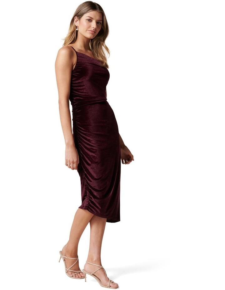 Luann Strappy Velvet Midi Dress image 3