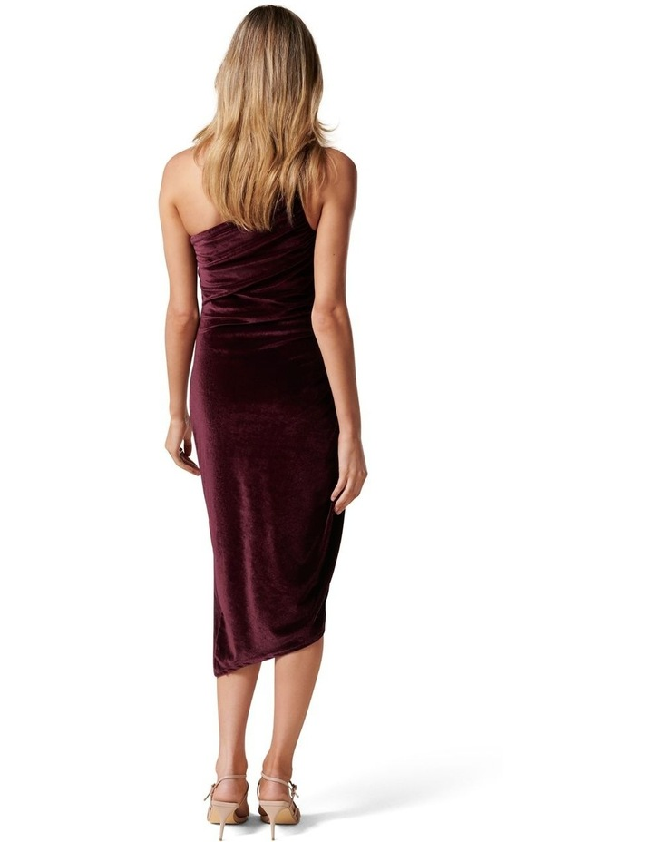 Luann Strappy Velvet Midi Dress image 4