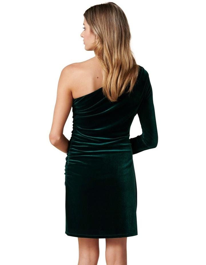 Vienna One Sleeve Velvet Mini Dress image 4