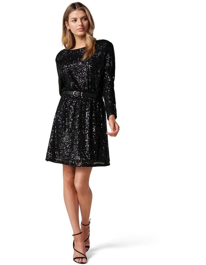 Sia Sequin Batwing Mini Dress image 5