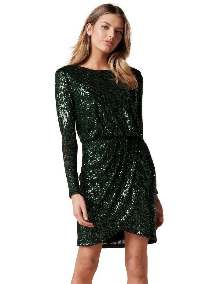 Juniper Sequin Wrap Mini Dress image 1