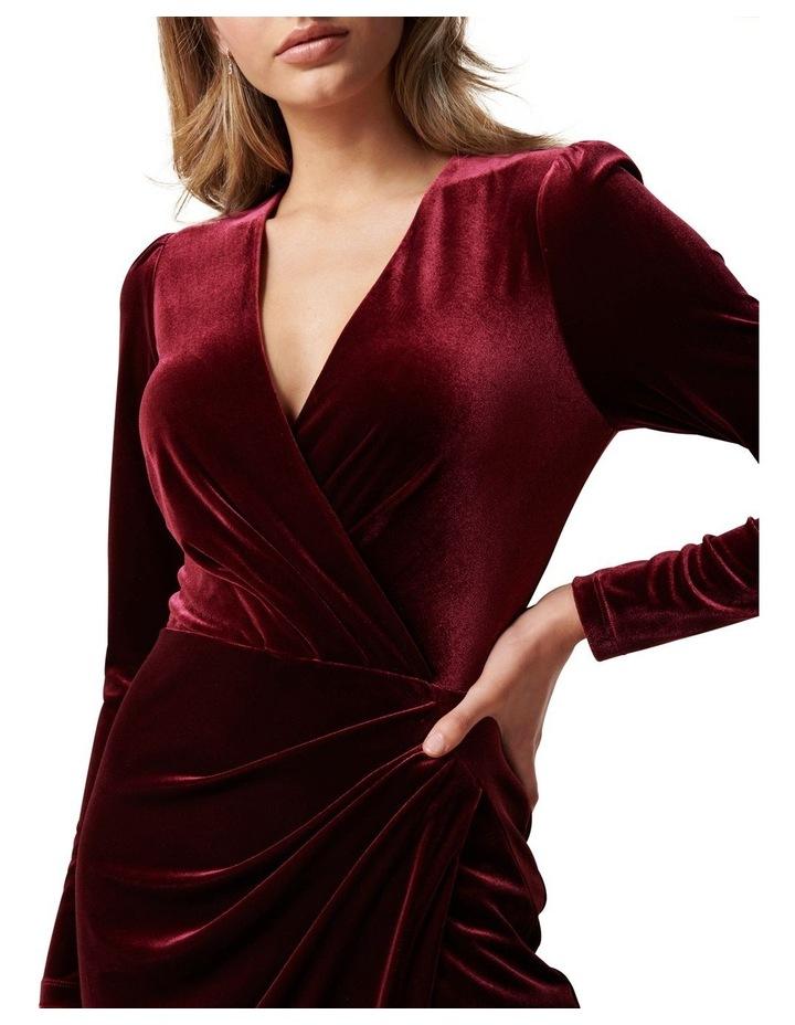 Evaliah Velvet Wrap Midi Dress image 2