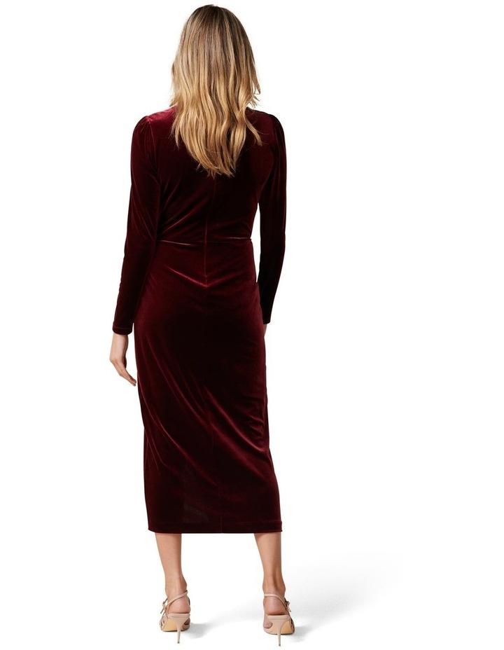 Evaliah Velvet Wrap Midi Dress image 4