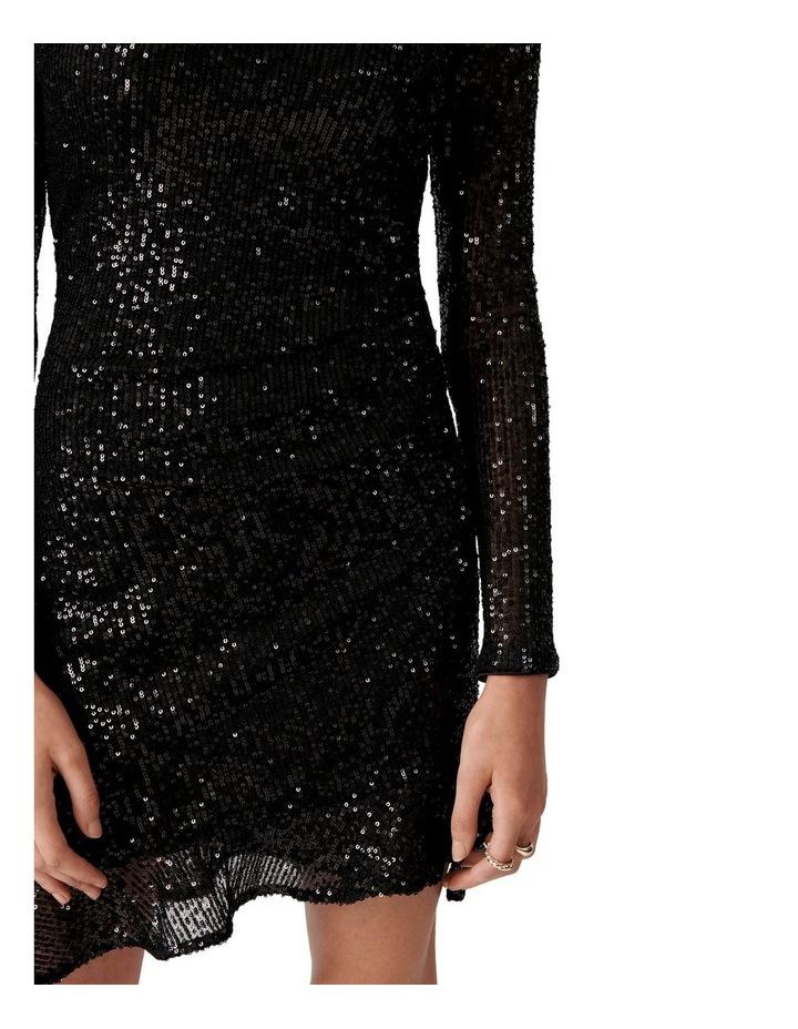 Delora Draped Long Sleeve Sequin Mini image 2