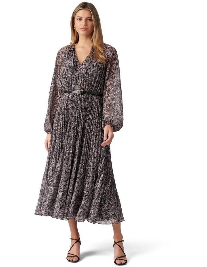 Carmen Pleated Midi Dress image 1
