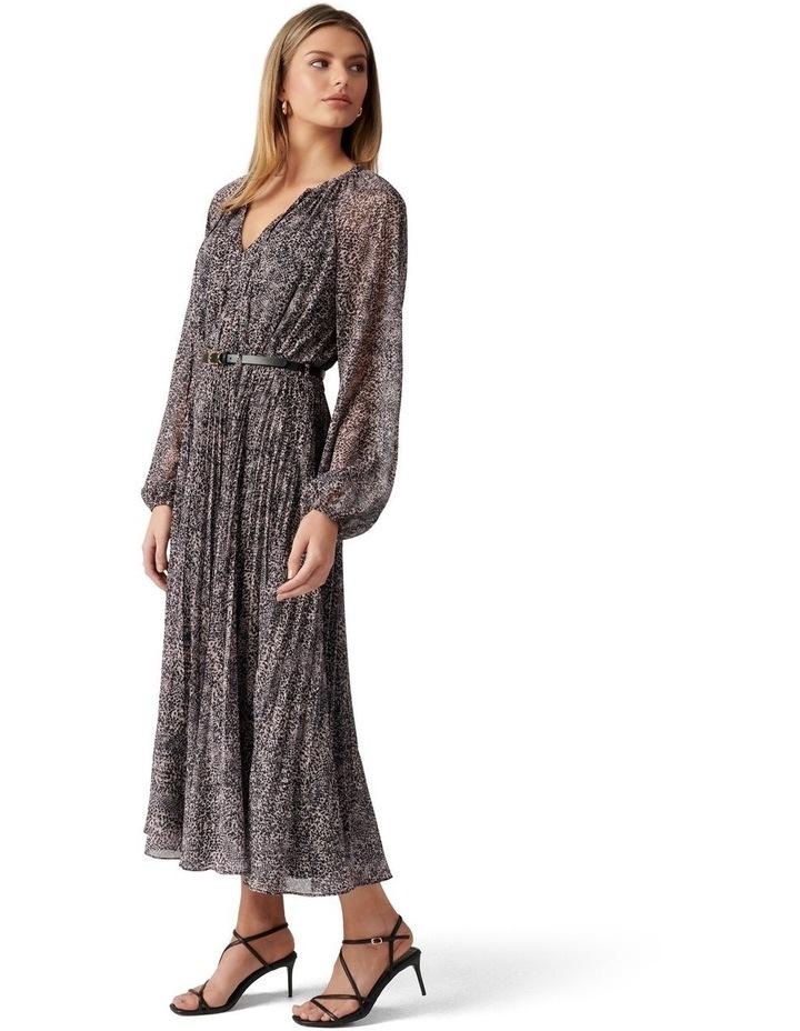 Carmen Pleated Midi Dress image 3