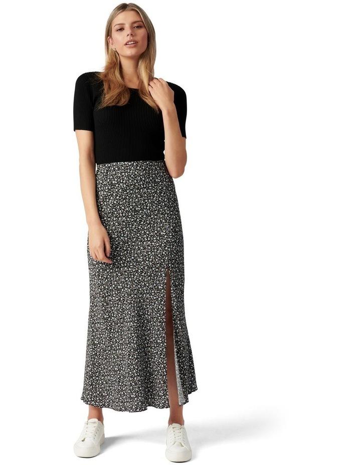 Blanca Petite Bias Split Midi Skirt image 5