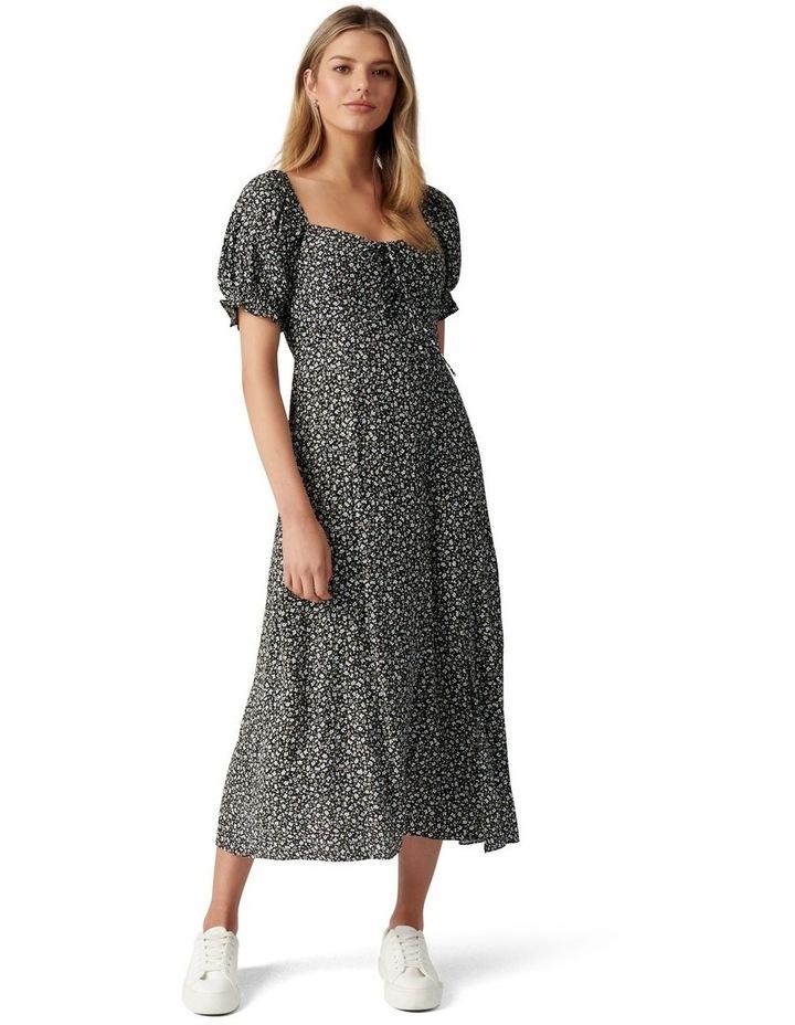 Mariah Lace Up Midi Dress image 1