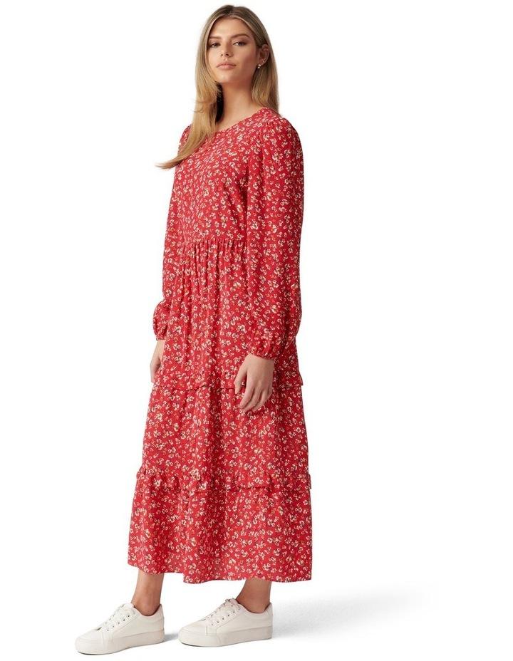 Selma Tiered Midi Dress image 3