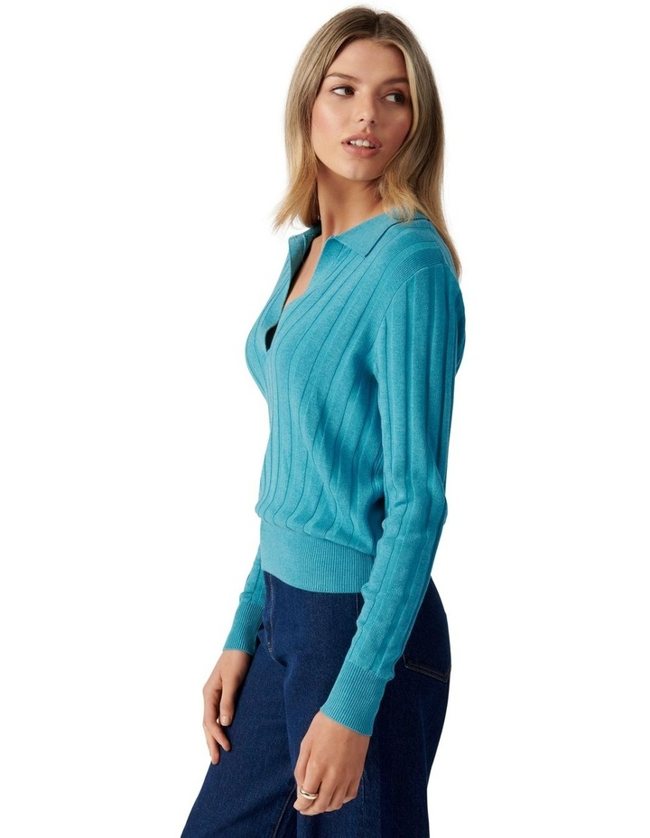 Isla Cinched Polo Knit Jumper image 3