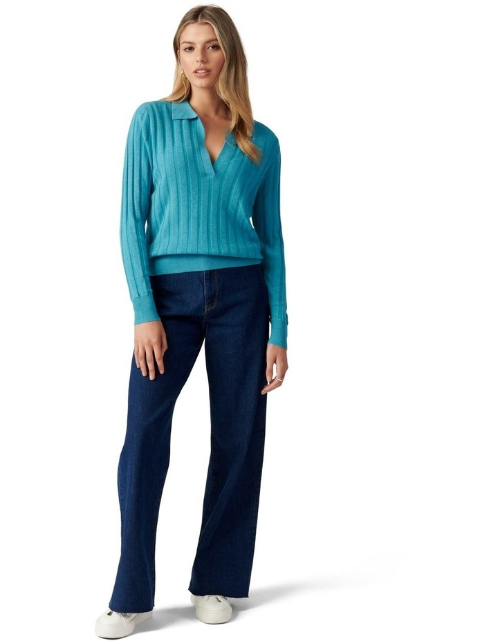 Isla Cinched Polo Knit Jumper image 5