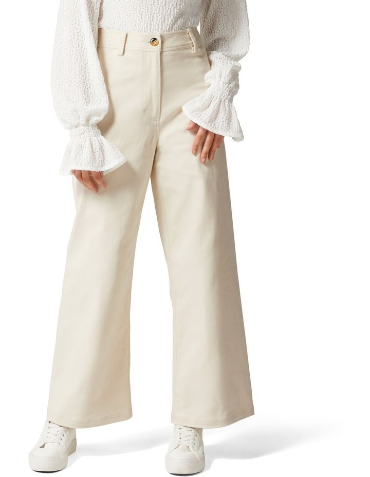Donna Twill Wide Leg Pant image 1