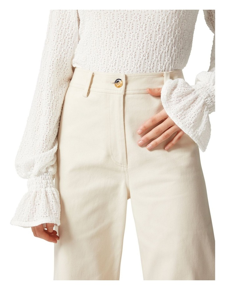 Donna Twill Wide Leg Pant image 2