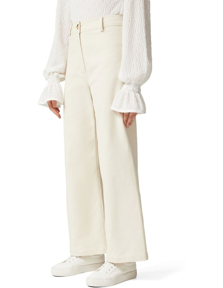 Donna Twill Wide Leg Pant image 3
