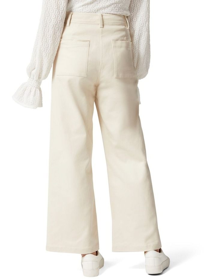 Donna Twill Wide Leg Pant image 4