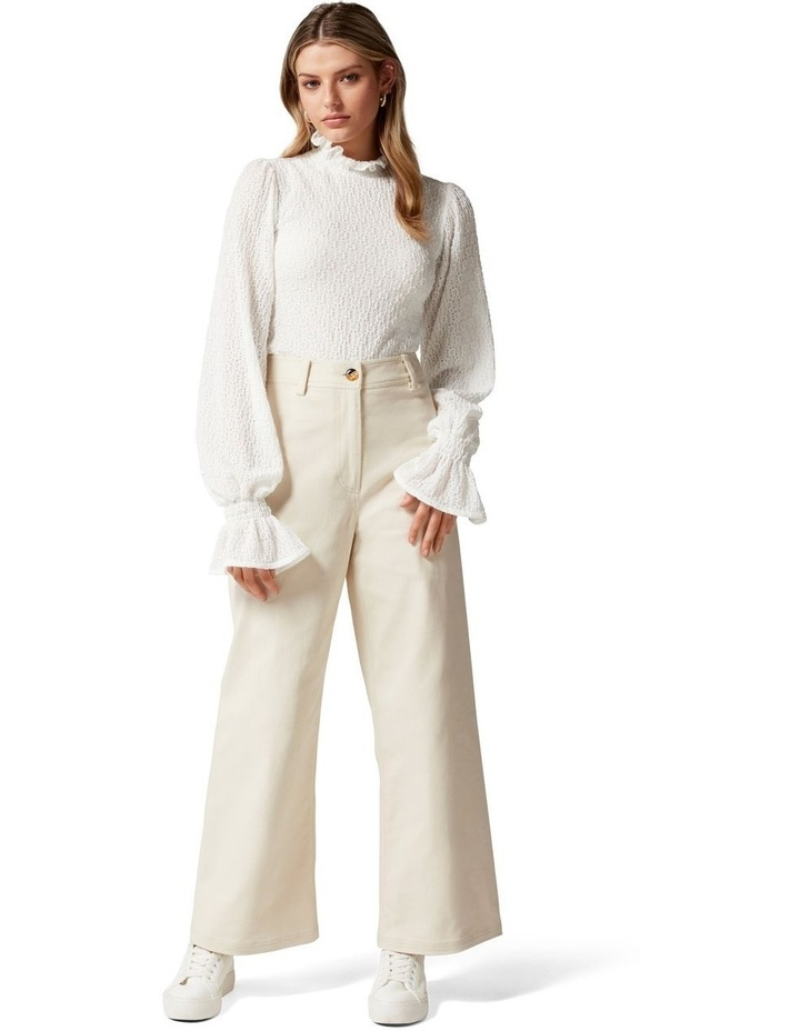 Donna Twill Wide Leg Pant image 5